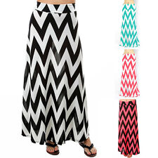 Cheap Bohemia Cool Women Floor Length Beach Summer Cocktail Party Pleated Skirts