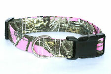 """True Timber MC2 Pink Camouflage Hunting Camo Dog Collar *** L 1 1/2"""" WIDE ***"""
