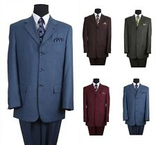 Milano Moda New Men's 2 Pc Luxuious Wool Feel Classic Suit 5 Colors Style 5802M