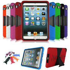 Heavy Duty Shockproof Military Rubber Hard Stand Case Cover For Apple iPad Mini