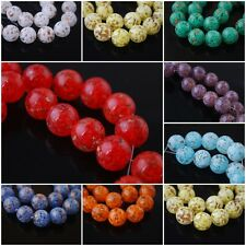 Pretty Round Czech Glass Gold Foil Dot Beads Spacer Jewelry Making 14mm Charms