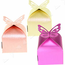 50/100pcs 3 Different Colors Wedding Butterfly Favor Gift Candy Boxes