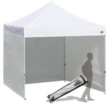 10X10 Ez Pop Up Canopy Commercial Canopy Tent comes with Full Sides + Roller bag
