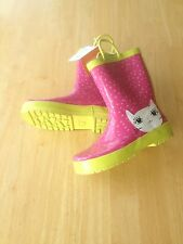 New Gymboree Bright Ideas Girls Pink CAT Rainboots SZ 9 10 11 12 13 1 2