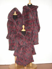 BOYS HOODED SKULL PRINT FLEECE DRESSING GOWN NEW WITH TAGS, ALL SIZISES