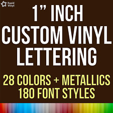 "1"" Custom Vinyl Lettering Text Name Decal Car Sticker Personalized Wall Window"