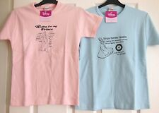 ** DISNEY PRINCESS PINK OR BLUE T SHIRT SIZE M/L ** NEW WITH TAG **