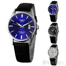 Men's Stunning Calendar Date Sport Faux Leather Quartz Analog Chic Wrist Watch
