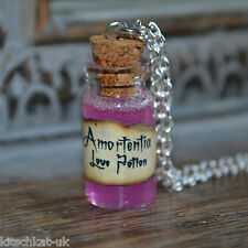 Handmade Amortentia love potion small Potion Bottle Necklace - Harry Potter