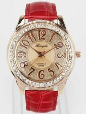 Fashion Lady Bling Red Women Watch Deals relojes reloj mujer hombre 2015 Watches