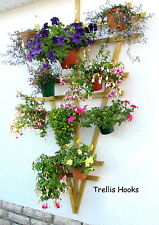 TRELLIS.HOOKS.PLANT POT HOLDERS, hang pot plants on trellises make a herb garden