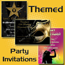 Personalised THEMED Birthday Party Invitations 18th 21st 30th 40th 50th 60th