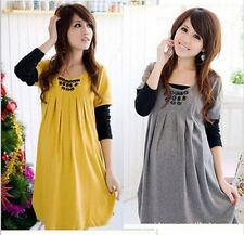 2014 new fashion maternity WINTER autumn long sleeve dress for pregnant women