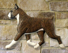 Boxer (Cropped) Wooden Hand Carved Wall Art. Home Dog Products & Gifts