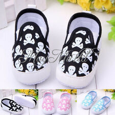 Fashion Baby Boys Girls Toddler Skull Sneakers Shoes Non-slip Soft Sole Crib  S