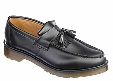 Dr Martens MENS Adrian Black Tassel Loafers smooth leather shoes