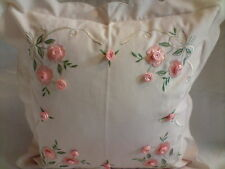 A pair of Raised Rose Cushion Cover,45 x 45Cm, 65% polyester 35% Viscose