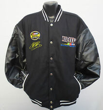 M&M'S COCHOLATE CANDY LEATHER REVERSIBLE JACKET CHASE AUTHENTICS NASCAR RACING