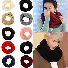 NEW Lady sweet Warm Knit Neck Circle Wool Blend Cowl Snood Long Scarf Shawl Wrap