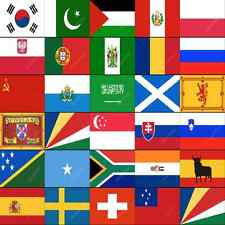 P-S COUNTRY FLAGS ALPHABETICAL - ALL SIZES - WORLD NATIONAL COUNTRIES LARGE