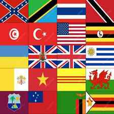 T-Z COUNTRY FLAGS ALPHABETICAL - ALL SIZES - WORLD NATIONAL COUNTRIES LARGE