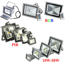 10W 20W 30W 40W 50W RGB LED Flat Panel Flood Light Outdoor Landscape Garden Lamp