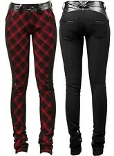 Punk Rave The Clash Trousers Pants Gothic Punk Red Tarten Rock
