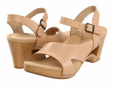 Women's Dansko Tasha Natural Leather Dress Clog Casual Sandals 36041606 Sz 37-39