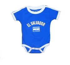 EL SALVADOR BABY ONE-PIECE KIDS INFANT SOCCER FUTBOL FLAG JERSEY T-SHIRT GIFT