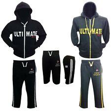 New Prime Sports Men Full Zipped Tracksuit Hoodie Bottoms Fleece Trousers & Top