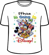 Many Tee Colors-Personalized Going To Disney Vacation T-Shirt