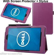 Flip Case Cover for Dell Venue 8 Android Tablet + Screen Protector + G Stylus