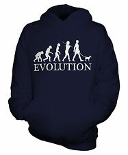 MINIATURE PINSCHER EVOLUTION OF MAN UNISEX HOODIE MENS WOMENS LADIES DOG GIFT