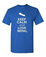 Keep Calm And Love Nepal Country Nation Patriotic Novelty Adult T-Shirt Tee