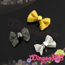 10pcs 3D Net Mesh Bow Tie Bowknot Nail Art Tips Phone Design Salon Decoration