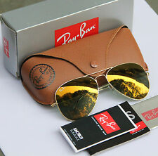 NEW Ray Ban Aviator RB 3025 W3274 55mm W3276 58mm Gold Mirror Gold Frame