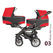 Double Twin Pram Buggy BabyActive Twinni 2014 3 in 1
