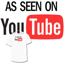 As Seen on You Tube T shirt Must Have for anyone posting Video