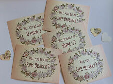 Rose Ring theme 'Will you be my' card with envelope with  variations listed
