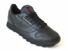 Reebok Mens Classic Black Leather Casual Shoes Sneakers Style 116 New