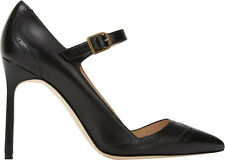New Manolo Blahnik BB CABRAS 105 Black Mary Jane Pumps Shoes 35 38.5 39 39.5