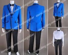 PSY Gangnam Style Cosplay Blue Blazer Suit High Quality Costume Daily Wear Cozy