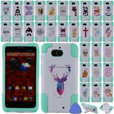 HYBRID Rubber Stand Case Cover For Motorola Droid Mini XT1030 Phone, Owl + Tool