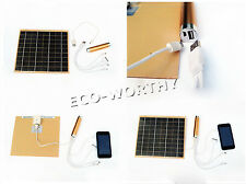 Portable solar charger USB External Battery LED Power Bank cell phone mobile