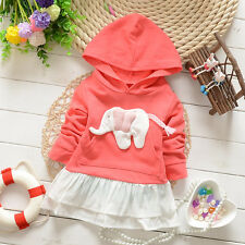 New Casual Baby Kids Girls 3D Animal Elephant Cotton Hooded Princess Dress