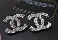 Trendy and fashion sparkling accent Earrings in Silver or Gold tone