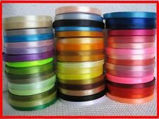 "15 yards Of 6mm (1/4"") Satin Ribbon Rolls Many Colours Free P&P"