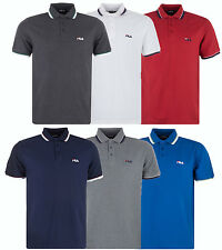 New Mens FILA Polo Shirt, T-Shirt Top Retro Vintage Golf Classic Branded Fashion