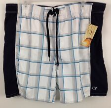 NWT Mens OP Swim Board Shorts Navy/White