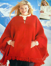 KNITTING PATTERNS LADIES CAPES GILET SHAWLS HATS GLOVES MITTS LEG WARMERS SCARFS